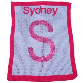 Initial Tweed Stroller Blanket
