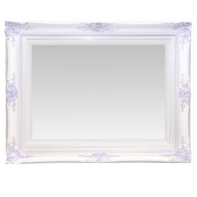 Rectangular  Wall Mirror Hand Painted in Lavender with Bling