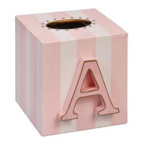 Monogrammed Hand Painted Tissue Box