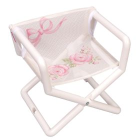 Girls Hand Painted Mesh Director Chair