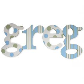 Greg Dots Wooden Hand Painted Wall Letters