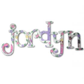 Jordyn Little Princess Hand Painted Wooden Wall Letters