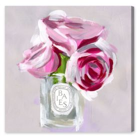 Rose Candle Canvas Wall Art