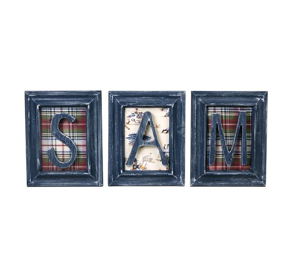 Personalized Wooden Framed Letters Sam (Priced per Letter)