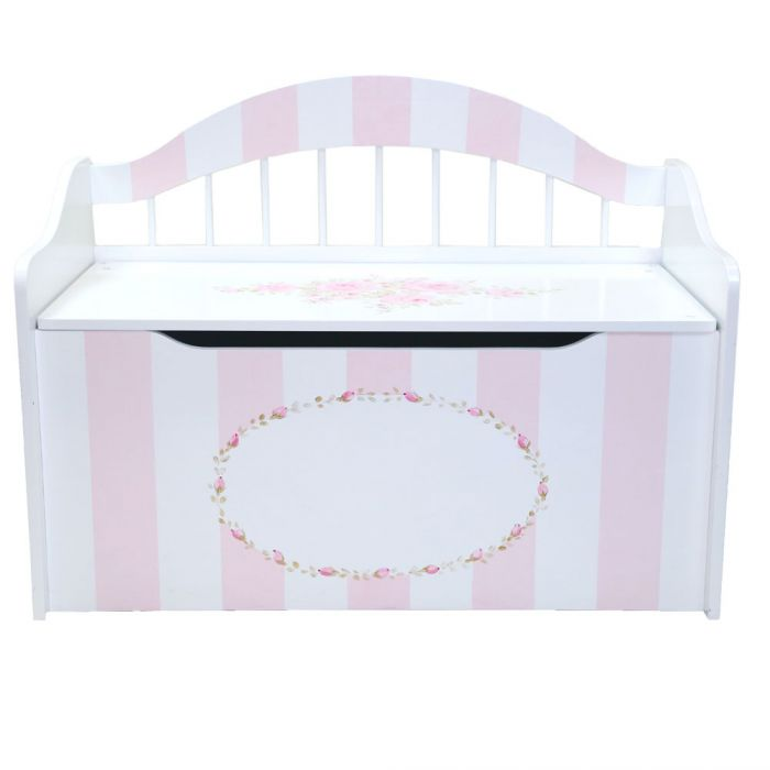 Hand painted toy chest with pink flowers and stripes skip to the beginning of the images gallery negle Gallery